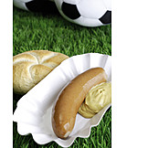 Soccer, Snack, Bockwurst