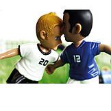 Fußball, Fußballspiel, Fußballspieler, Konkurrenz, Gerangel