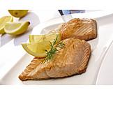 Fischspeise, Lachsfilet