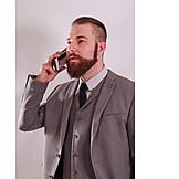 Businessman, On the phone