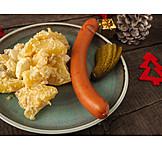 Potato Salad, Classic, Sausages, Christmas Dinner