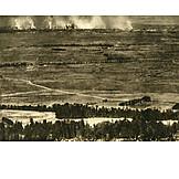 Fire, Reims, War Photography
