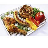 Grillen, Gegrillt, Bratwurst, Bratwürstchen
