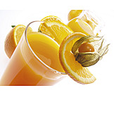 Orange, Juice, Physalis