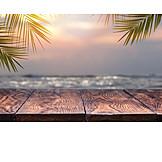 Dämmerung, Meer, Urlaubszeit