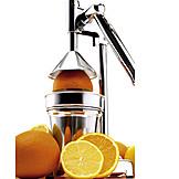Orange, Orange Juice, Juicer, Pressing