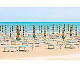 Apulia, Parasols, Adriatic coast