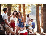 Flirten, Picknick, Ausflug, Freundinnen