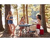 Picknick, Ausflug, Freundinnen