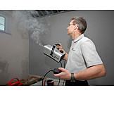 Technician, Fog Machine, Saving Energy, Measurement