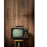 Watching Tv, Retro, Television, Noise