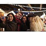 Freundschaft, Weihnachtsmarkt, Selfie