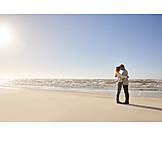 Beach, Affection, Love Couple