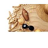 Sommer, Urlaub, Sonnenschutz, Badeurlaub, Strandgut