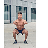 Sportsman, Workout, Squat