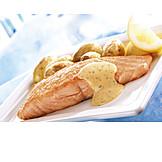 Fischgericht, Lachsgericht