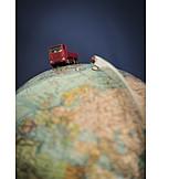 Logistik, Weltweit, Lastwagen, Warenverkehr