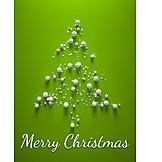 Christmas tree, Christmas card, Merry christmas