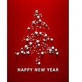 Christmas Tree, Christmas Card, Happy New Year