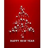 Christmas Tree, Christmas Card, Happy New Year