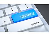 Button, Service, Computer Key