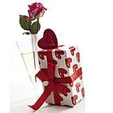 Geschenk, Valentinstag, Liebesgruß