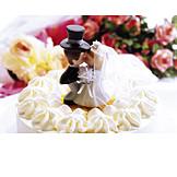 Partnerschaft, Brautpaar, Hochzeitstorte