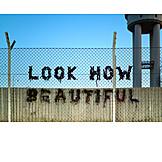 Optimism, Streetart, Beautiful, Tempelhofer feld