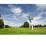 Golf, Tee Box, Golfing, Golfer