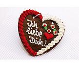 Valentinstag, Lebkuchenherz, Liebesbotschaft