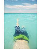 Teenager, Bathing, Mediterranean Sea