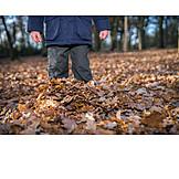 Child, Autumn Leaves