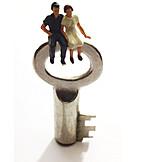Schlüssel, Eigenheim, Treue, Ehepaar