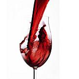 Eingießen, Rotwein