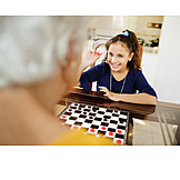 Domestic Life, Playing, Board Game