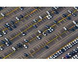 Parking lot, Cars