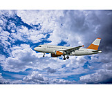 Airplane, Flying, Commercial Airplane