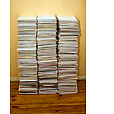 Recycled Paper, Documents, File Pile