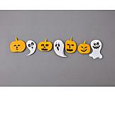 Kürbis, Halloween, Geister, Bastelarbeit