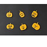 Kürbis, Grimasse, Halloween