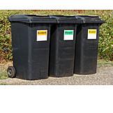 Recycling, Mülltonne, Müllentsorgung