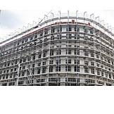 Building Construction, Construction Site, Scaffolding