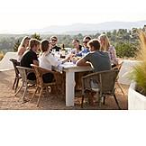 Freunde, Abendessen, Ibiza