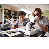 Teamwork, School, Microscope, Science