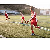Teenager, Fußballspiel