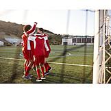Soccer, Team Spirit, Ecstatic