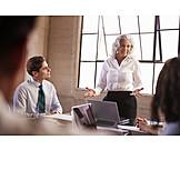 Geschäftsfrau, Meeting, Präsentation