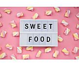 Süßigkeiten, Marshmallow, Sweet Food