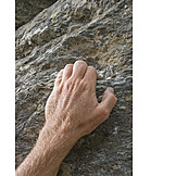 Rocks, Hand, Climbing