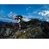 Extreme Sports, European Alps, Mountain Biker
